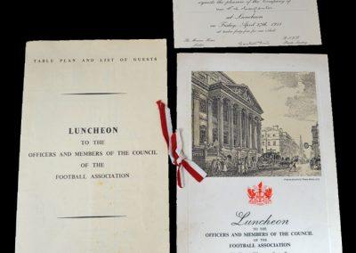 FA Luncheon Souvenir 27.04.1951