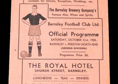 Barnsley v Preston 21.10.1950