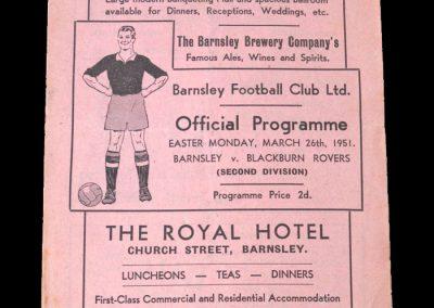 Barnsley v Blackburn 26.03.1951