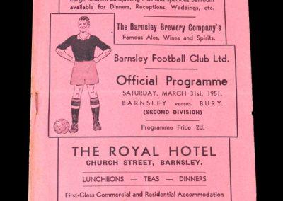 Barnsley v Bury 31.03.1951
