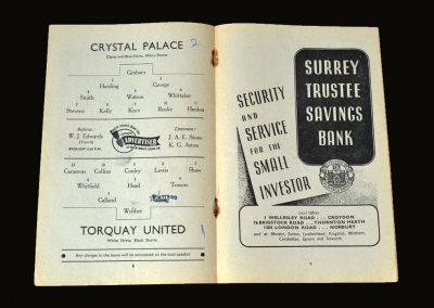 Crystal Palace v Torquay 30.08.1950