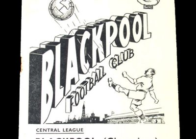 Blackpool Reserves v Rest of Central League 30.09.1950
