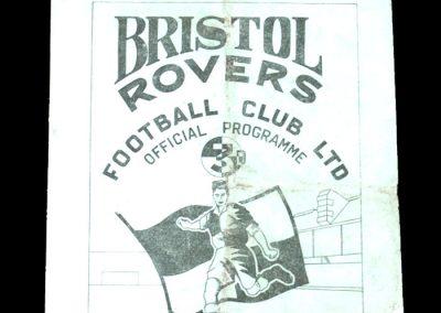 Bristol Rovers v Bristol City 30.12.1950