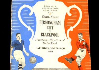 Blackpool v Birmingham 10.03.1951 - FA Cup Semi Final