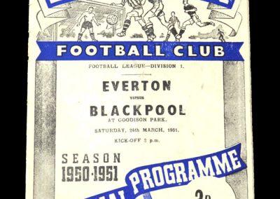 Everton v Blackpool 24.03.1951