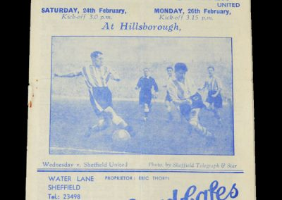 Man Utd v Sheff Wed 26.02.1951