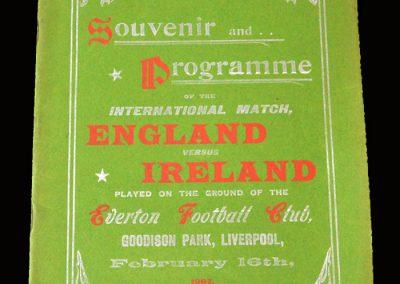 England v Ireland 16.02.1907