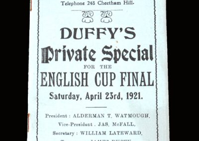 Spurs v Wolves 23.04.1921 - FA Cup Final Tour