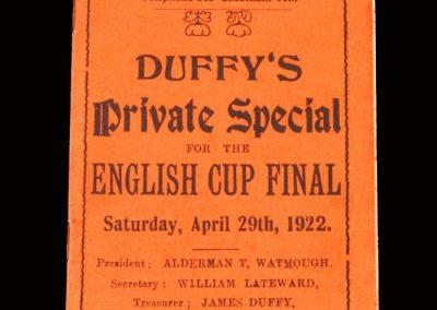 Huddersfield v Preston 29.04.1922 - FA Cup Final Tour