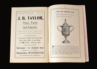 Newcastle v Aston Villa 26.04.1924 - FA Cup Final Tour (and a slap on the wrist for Man Utd!)