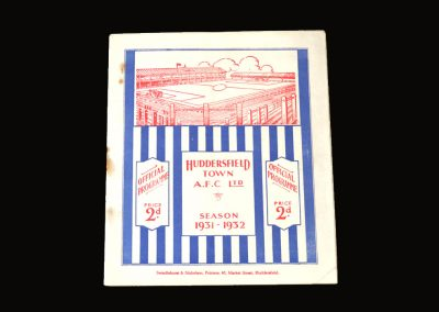 Huddersfield v Arsenal 27.02.1932 - FA Cup 6th Round