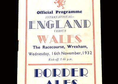 Wales v England 16.11.1932