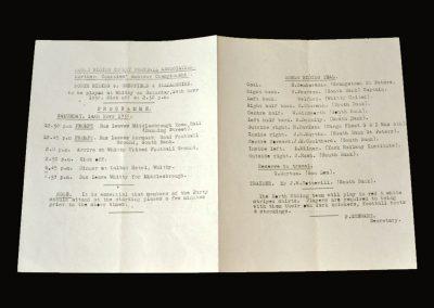 North Riding v Sheffield & Hallamshire 14.11.1936 (Northern Counties Team Sheet)