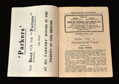 Stoke v Huddersfield 05.04.1947