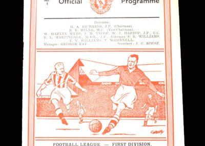 Man Utd v Liverpool 23.08.1950