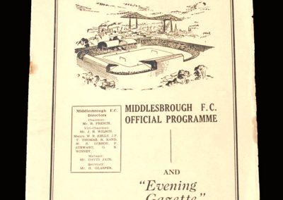 Man Utd v Middlesbrough 23.09.1950