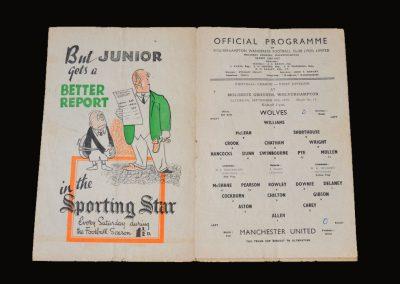 Man Utd v Wolves 30.09.1950