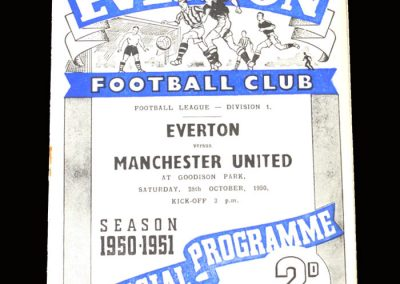 Man Utd v Everton 28.10.1950