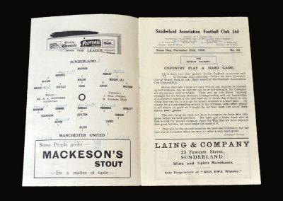Man Utd v Sunderland 25.12.1950