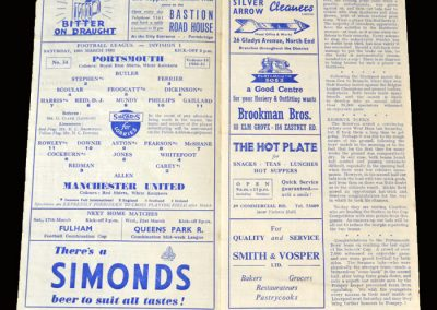 Man Utd v Portsmouth 10.03.1951