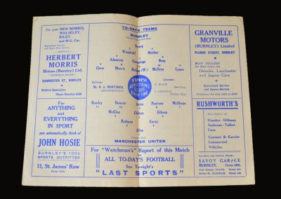 Man Utd v Burnley 24.03.1951