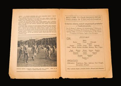 Czechoslovakia v England 30.05.1957 (both goals in a 2-0 win for the Under23's)