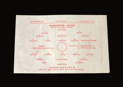 Man Utd v Chesterfield 08.09.1945