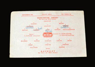 Man Utd v Barnsley 29.09.1945