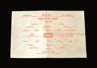 Man Utd v Everton 06.10.1945