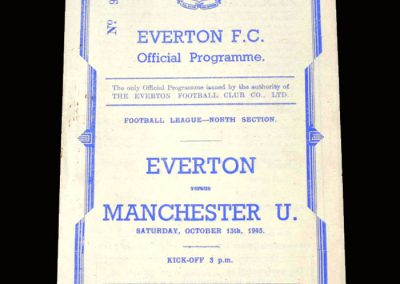 Man Utd A v Everton A 13.10.1945