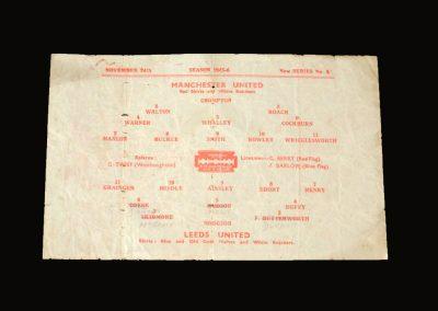 Man Utd v Leeds 24.11.1945