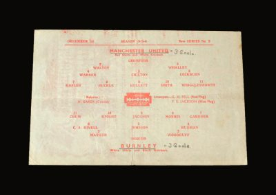 Man Utd v Burnley 01.12.1945