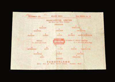 Man Utd v Sunderland 15.12.1945
