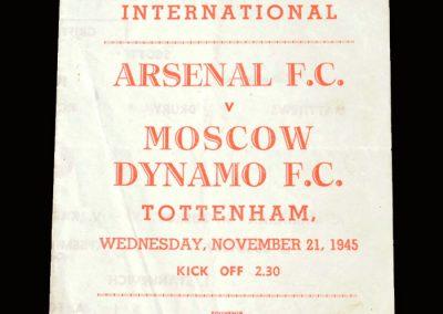 Arsenal v Dynamo 21.11.1945 (pirate)