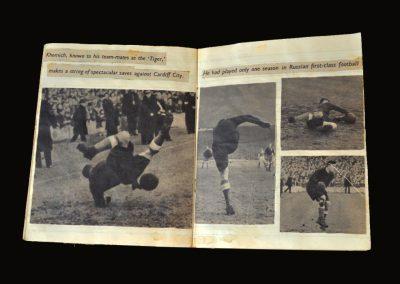 Cardiff v Dynamo 17.11.1945 - Press Cuttings