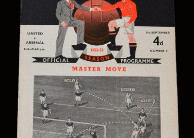 Man Utd v Arsenal 03.09.1952