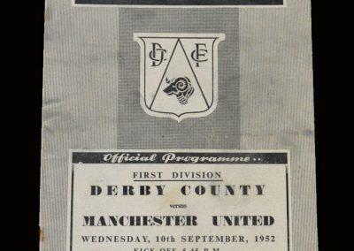 Man Utd v Derby 10.09.1952