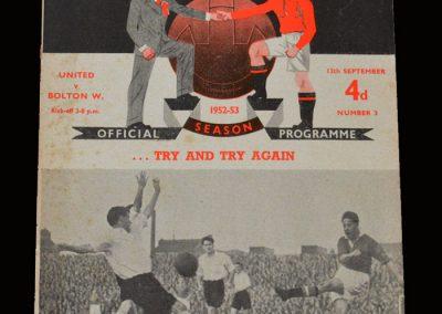 Man Utd v Bolton 13.09.1952