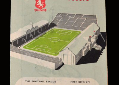 Man Utd v Aston Villa 20.09.1952