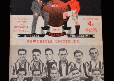 Man Utd v Newcastle 24.09.1952 - Charity Shield