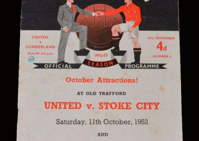 Man Utd v Sunderland 27.09.1952