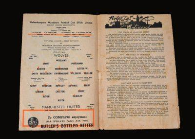 Man Utd v Wolves 04.10.1952