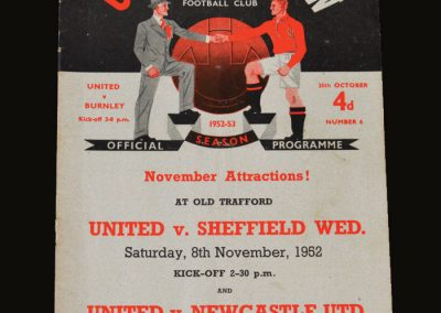 Man Utd v Burnley 25.10.1952