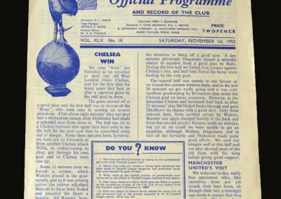 Man Utd v Spurs 01.11.1952