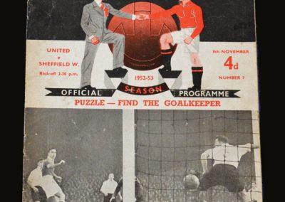 Man Utd v Sheff Wed 08.11.1952