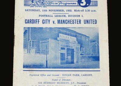 Man Utd v Cardiff 15.11.1952
