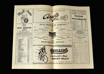 Man Utd v West Brom 29.11.1952
