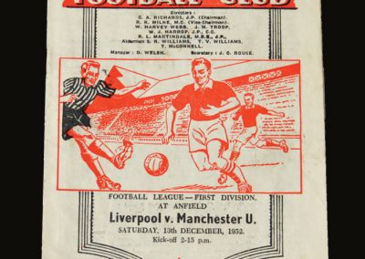 Man Utd v Liverpool 13.12.1952