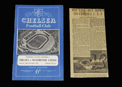 Man Utd v Chelsea 20.12.1952