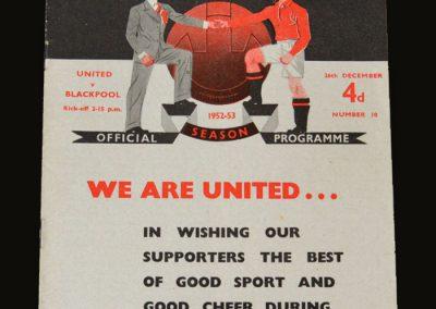 Man Utd v Blackpool 26.12.1952